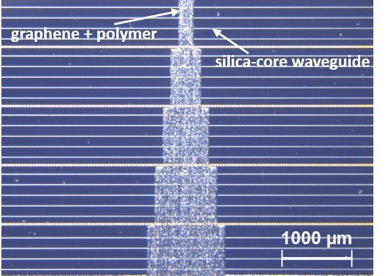 Graphene on silica chip new version